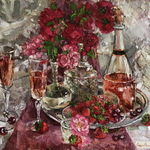 bouquet of pink champagne By Olga Sedykh