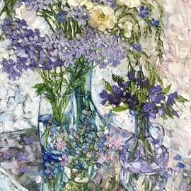 Flax And Forget Me Nots, Olga Sedykh
