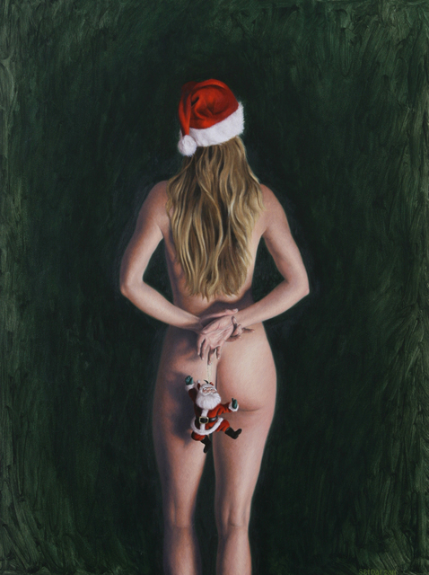 Seidai Tamura  'Ho Ho Ho', created in 2011, Original Painting Oil.