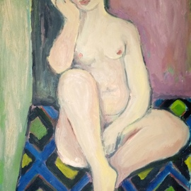 nude on carpet By Selenia Bosso