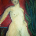 nude with plant By Selenia Bosso