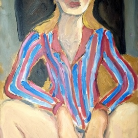 woman with striped shirt By Selenia Bosso