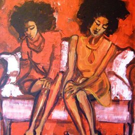 Kika Selezneff Aleman: 'SHOES', 2008 Acrylic Painting, Figurative.