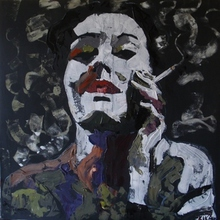 - artwork SMOKING-1254058860.jpg - 2009, Painting Acrylic, Figurative