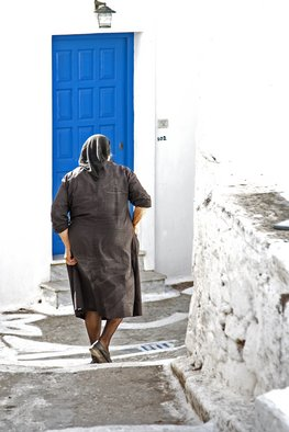 Frits Selier Artwork Greek woman, 2012 Color Photograph, People