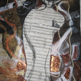 Silviya Georgieva Artwork 2 Collage Bolero, 2009 Collage, Abstract Figurative