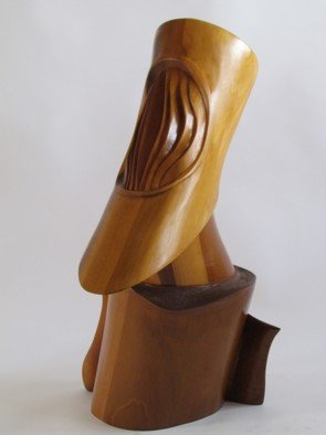 Michael Semsch: 'Galileo', 2006 Wood Sculpture, Abstract. Artist Description:  Galileo is a wood sculpture incorporating both the addative and subtractive processes. It is about space, about star gazing, the telescoping form searches the galaxies, seeking answers from the universe.     ...