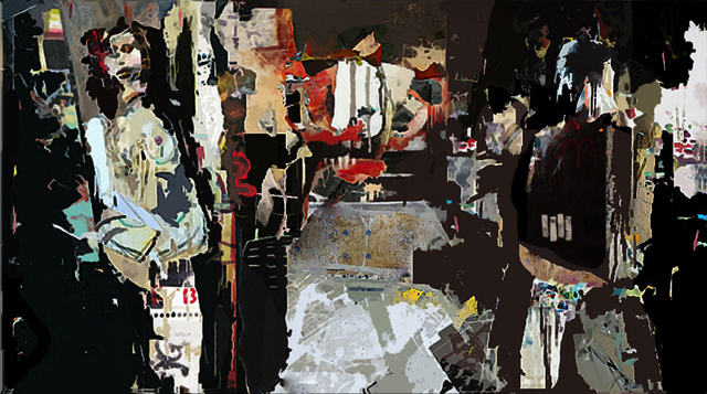 Serj Fedulov  ' Dialog ', created in 2011, Original Painting Other.