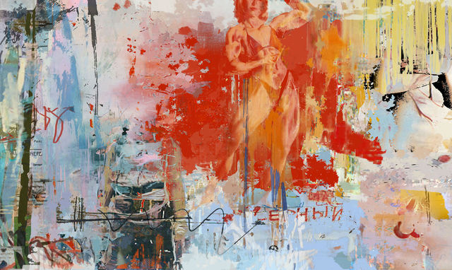Serj Fedulov  'Composition', created in 2011, Original Painting Other.