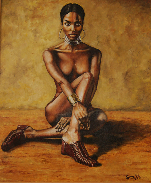 Sergey Kirillov  'African Girl', created in 2017, Original Painting Oil.