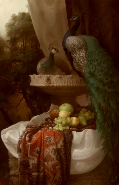 Dmitry Sevryukov  'Peacocks', created in 2018, Original Painting Oil.