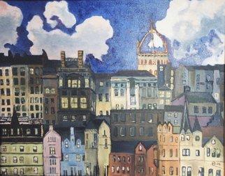 Artist: Francis Sharp - Title: edinburg street scene - Medium: Oil Painting - Year: 2006