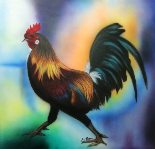 Stephen Fusco  'Rooster', created in 2014, Original Computer Art.