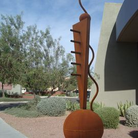 Steven Derks: 'Steel Sculpture', 2007 Steel Sculpture, Geometric. Artist Description:  Rusted Steel ...