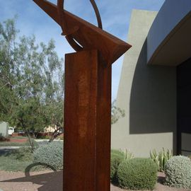 Steven Derks: 'Steel Sculpture 2', 2008 Steel Sculpture, Geometric. Artist Description:  Rusted Steel ...