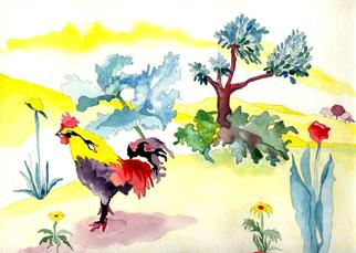 Suzanne Gegna Artwork CHICKENWITHLOTS OF YELLOW, 1998 CHICKENWITHLOTS OF YELLOW, Animals