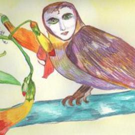The Poet As An Owl With Honeysuckle, Suzanne Gegna