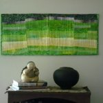 abstract art wall quilt By Suzanne Gegna