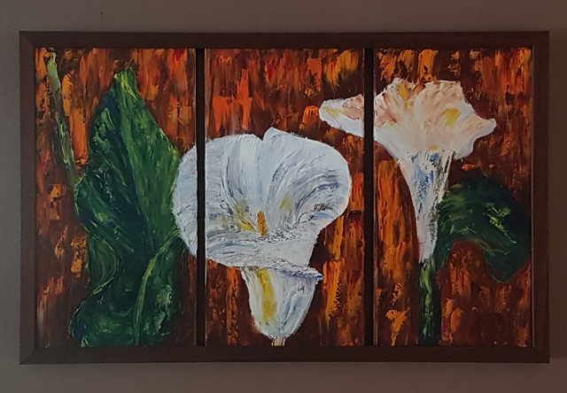 Sharon Dippenaar  'Lily', created in 2018, Original Painting Oil.