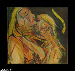 Erotic Oil Painting by D Loren Champlin Title: Damnation of Faust, created in 2006