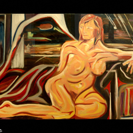 D Loren Champlin: 'Reclining Nude', 2007 Oil Painting, nudes. Artist Description: This is a painting of a reclining nude not yet titled....