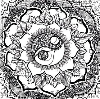 Shaenna Marie: 'YingYangYo', 2012 Pen Drawing, Buddhism. Artist Description:  The concept of health and balance is distorted in today's world. We tend to go one direction, when in reality we need to strive to be in the middle. Enjoy natures wonders, be with the wonders, and you will create wonders.       ...