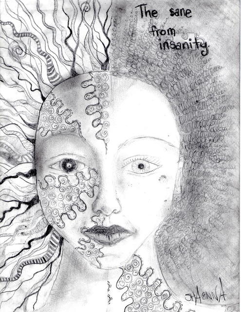 Shaenna Marie  'The Insane From Insanity', created in 2011, Original Drawing Pen.