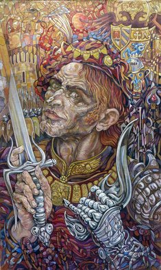 Giorgi Arutinov Artwork KingofSwords, 2016 Acrylic Painting, Spiritual