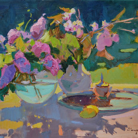 Alexander Shandor: 'a game of shadows', 2020 Oil Painting, Still Life. Artist Description: PaintingSize: 80 W x 55 H x 2 cmOil on Canvas. ...