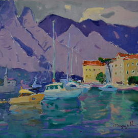 Alexander Shandor: 'bay of kotor', 2019 Oil Painting, Sea Life. Artist Description: Kotor BayOil painting on canvas in 2019 in Kotor, Montenegro.Signed by the artist at the frontSigned Certificate of AuthenticityAll questions regarding the price write to the message.Sincerely, Alexander, ...