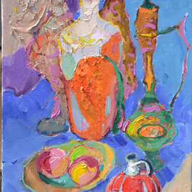Alexander Shandor: 'pitchers', 2018 Oil Painting, Still Life. Artist Description: Pitchersoil on canvas2018Alexander Shandor is an Ukrainian artist, who was born in 1981. He is presently residing there. Master graduated from the Erdeli college, specializing in the metals processing. ...