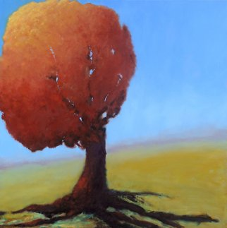 Trees Oil Painting by Shanee Uberman Title: SUNTREE, created in 2012