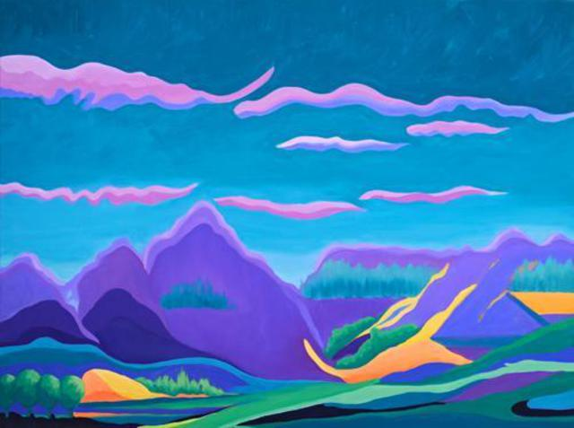 Shanee Uberman  'Some Where Over The Mountain', created in 2013, Original Painting Oil.