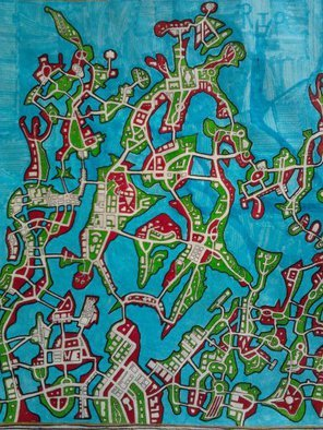 Shane Watt: 'Circles', 2013 Other Drawing, Maps. Artist Description: A city map about rebirth. ...