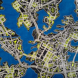 Shane Watt Artwork City in the Dark, 2013 Other Drawing, Maps