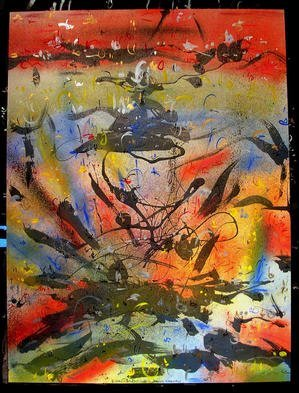 Richard Lazzara Artwork BIG BANG THEORY, 1985 Mixed Media, Inspirational