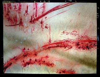 Richard Lazzara Artwork BLOOD, 1984 Mixed Media, Inspirational