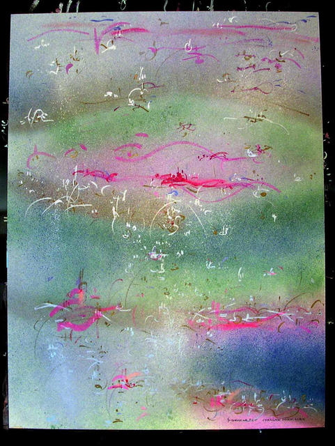 Richard Lazzara  'CHARGED PARTICLES', created in 1985, Original Pastel.