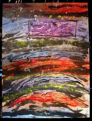 Richard Lazzara Artwork CHECK IN THE MAIL, 1985 Mixed Media, Inspirational