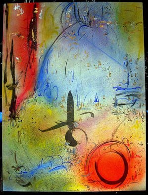 Richard Lazzara Artwork CIRCLE LINE, 1985 Mixed Media, Inspirational
