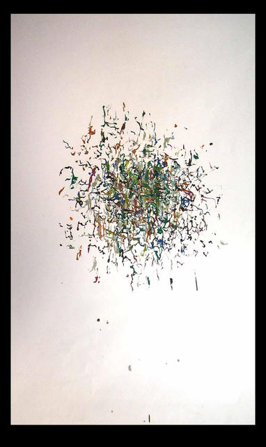 Richard Lazzara  'CORE SAMPLE ORGANIC NETWORK', created in 1972, Original Pastel.