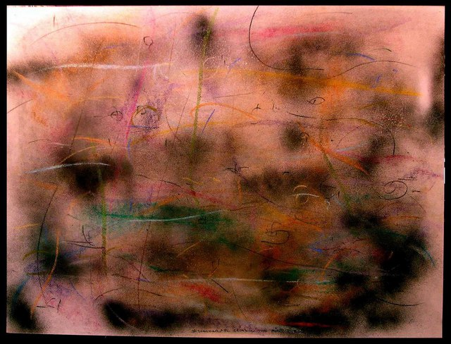 Richard Lazzara  'CROSSING THE MIND FIELD', created in 1984, Original Pastel.