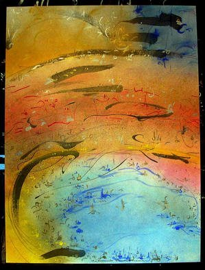 Richard Lazzara Artwork EDGES PSYCHIC, 1985 Mixed Media, Inspirational