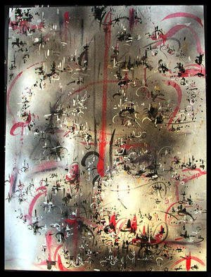Artist: Richard Lazzara - Title: ELASTICITY - Medium: Calligraphy - Year: 1984