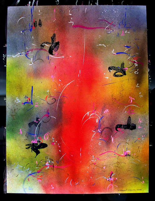 Richard Lazzara  'ESSENTIAL DATA', created in 1985, Original Pastel.