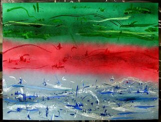 Richard Lazzara Artwork FLAG NEW REPUBLIC, 1984 Mixed Media, Inspirational