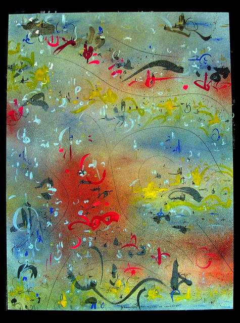 Richard Lazzara  'FLOOD OF MEMORIES', created in 1985, Original Pastel.