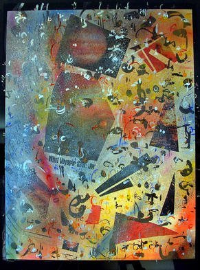 Richard Lazzara Artwork JUPITER ORANGE, 1985 Mixed Media, Inspirational