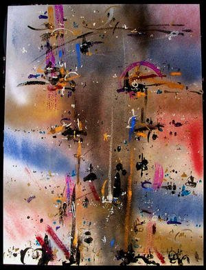 Artist: Richard Lazzara - Title: LONGEVITY - Medium: Calligraphy - Year: 1984