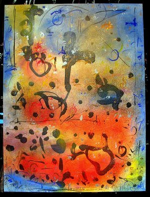 Richard Lazzara Artwork MANIFESTING PRANA, 1985 Mixed Media, Inspirational